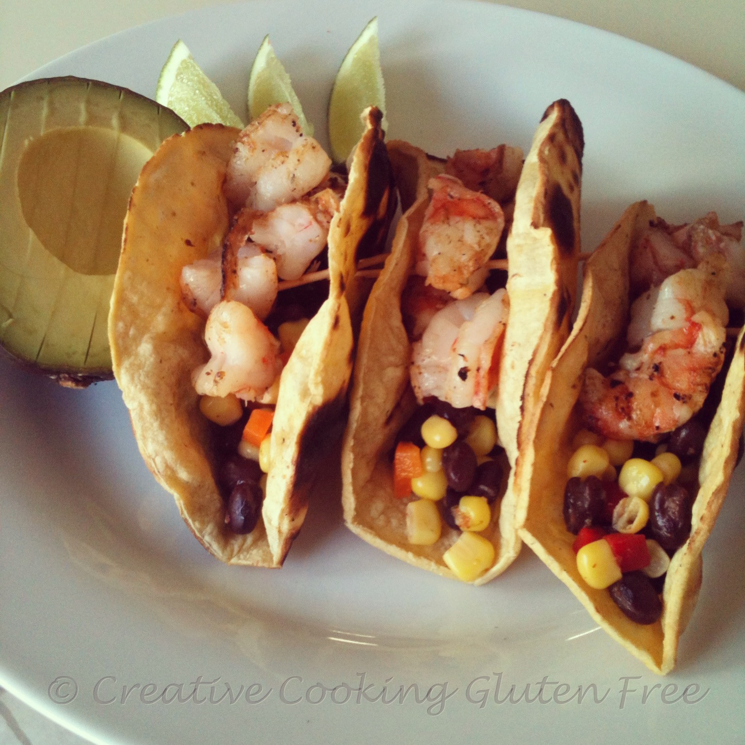 Grilled Shrimp Tacos with Corn and Black Bean Salsa | Gluten Free ...