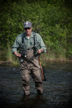 Dad fishing the West Outlet