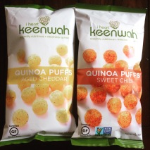 One for me (sweet chili - dairy free) and Bryan got the aged cheddar - love I heart keenwah and their products!